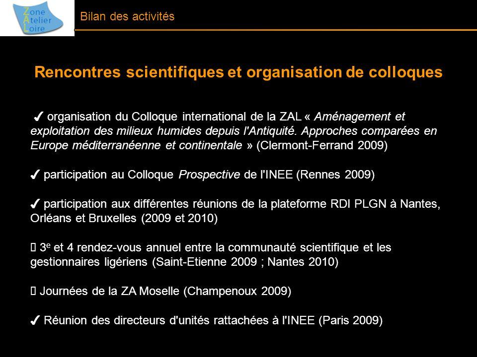 Rencontres scientifiques et organisation de colloques