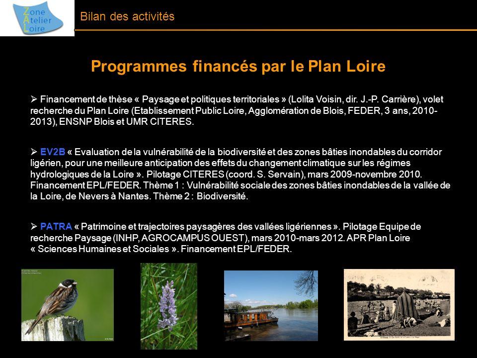 Programmes financés par le Plan Loire