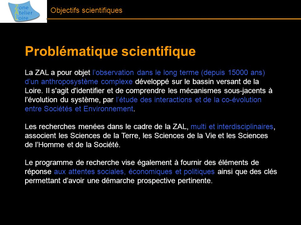 Problématique scientifique