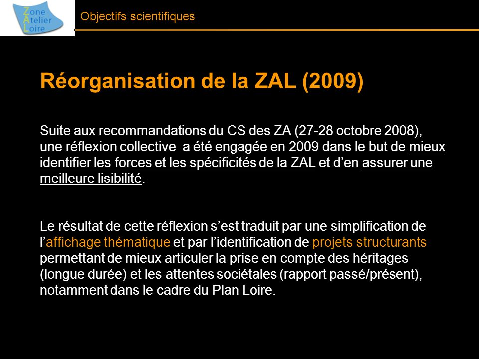 Réorganisation de la ZAL (2009)