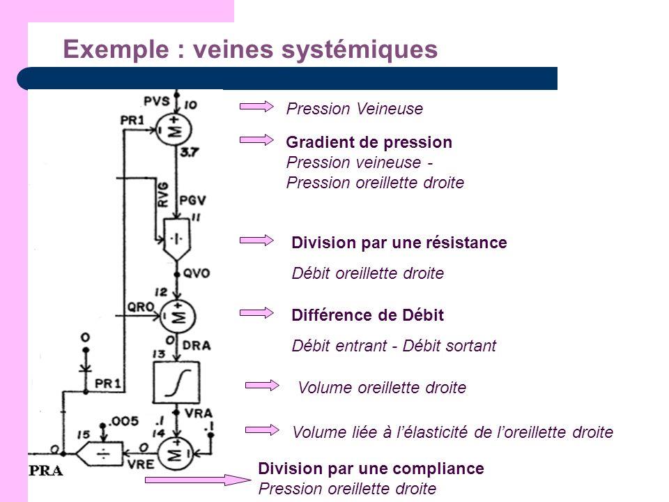 Exemple : veines systémiques