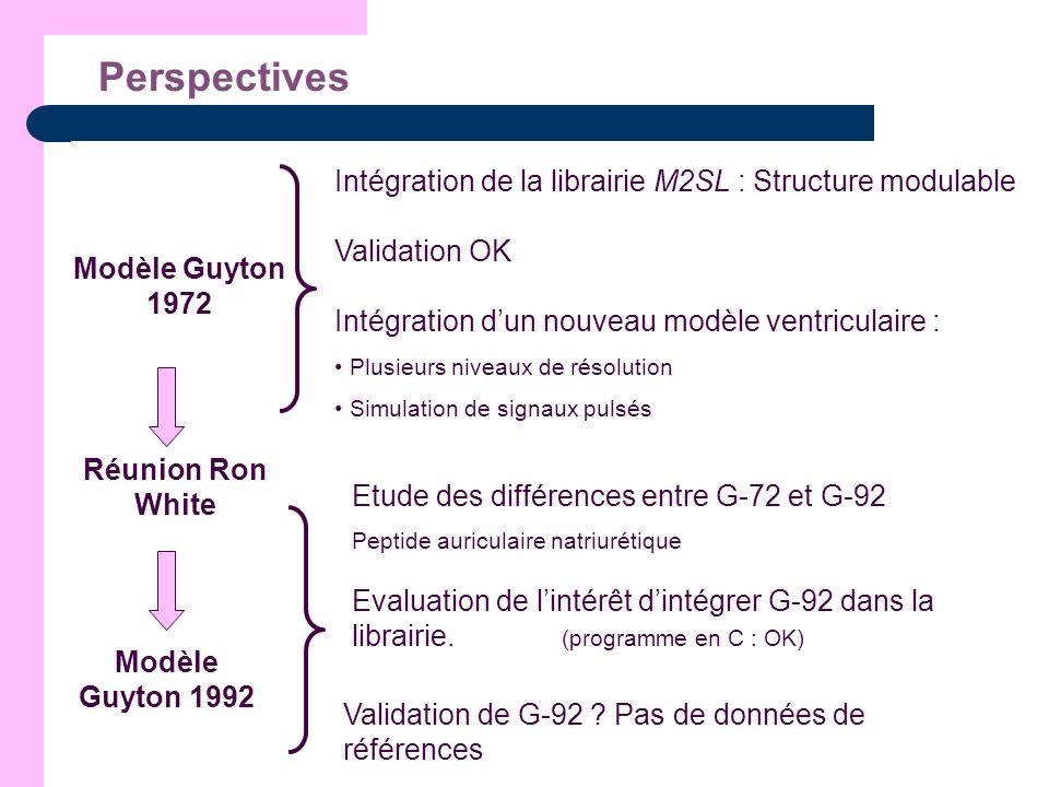 Perspectives Intégration de la librairie M2SL : Structure modulable