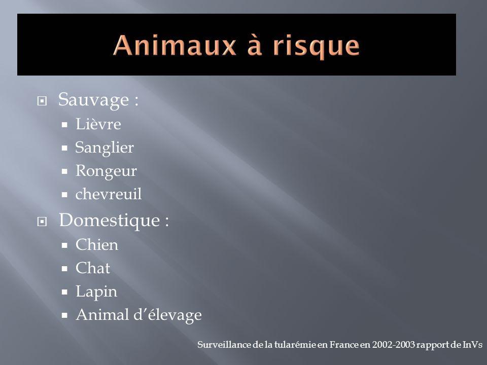 Sauvage : Domestique : Lièvre Sanglier Rongeur chevreuil Chien Chat