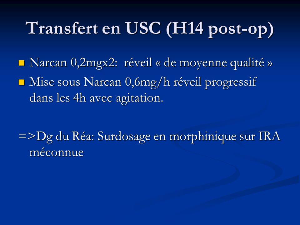 Transfert en USC (H14 post-op)