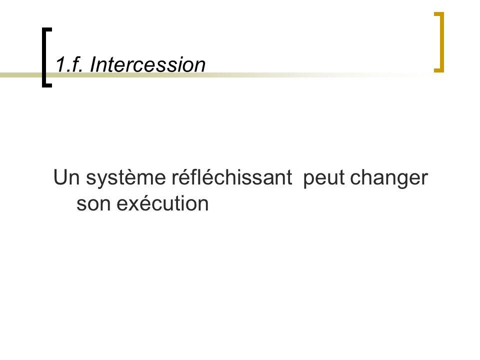 1.f. Intercession Un système réfléchissant peut changer son exécution
