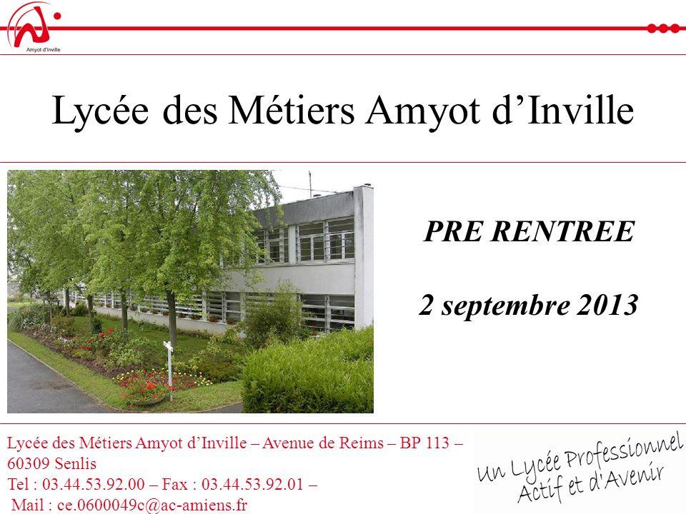 Lycée des Métiers Amyot d'Inville