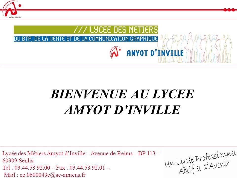 BIENVENUE AU LYCEE AMYOT D'INVILLE