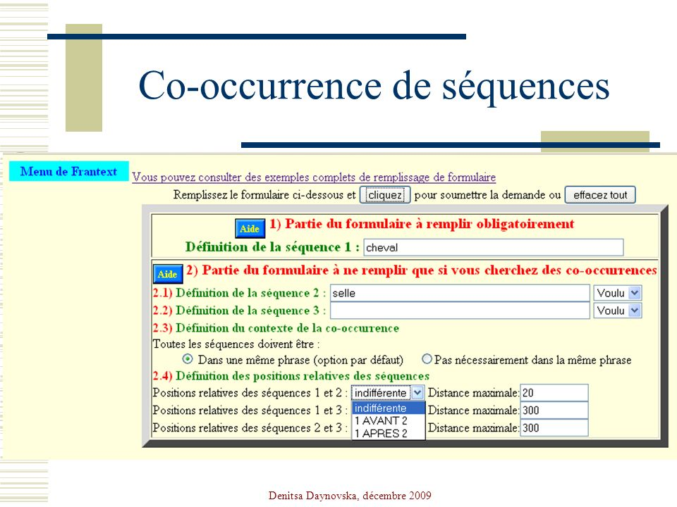 Co-occurrence de séquences