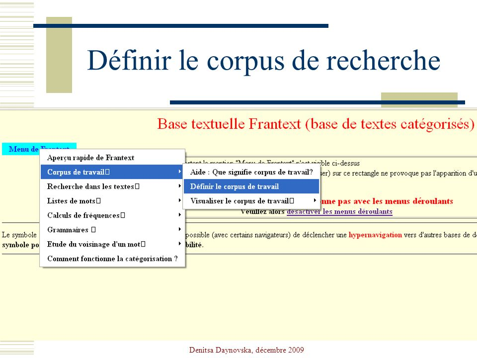Définir le corpus de recherche