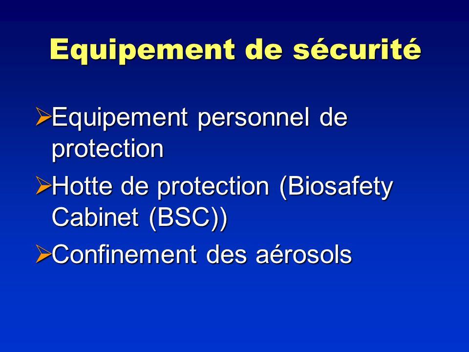 Equipement de sécurité