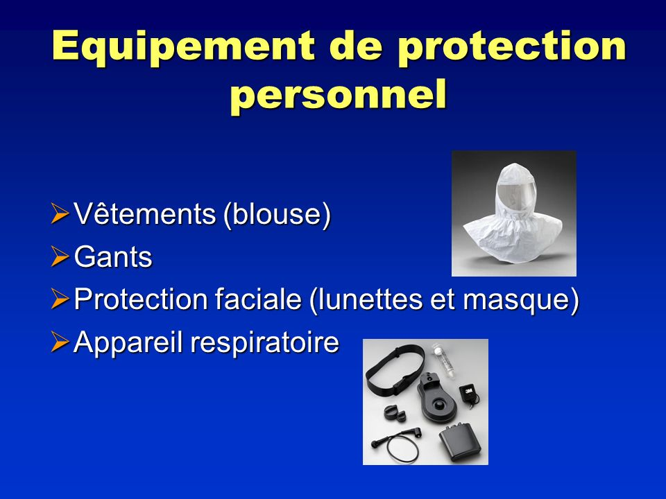Equipement de protection personnel