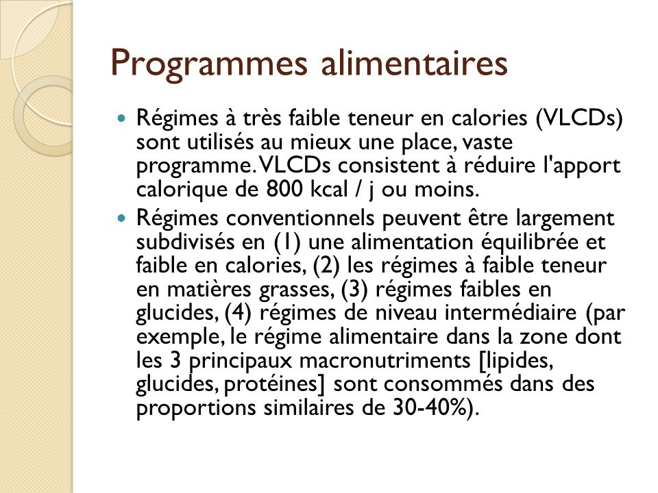 Programmes alimentaires
