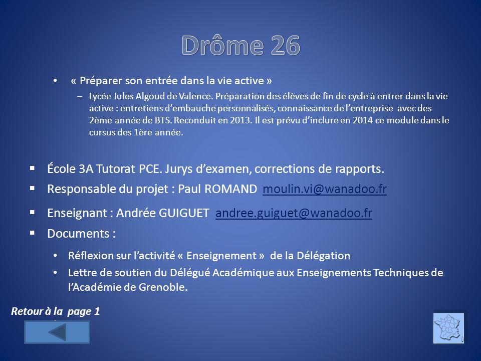 Drôme 26 « Préparer son entrée dans la vie active »