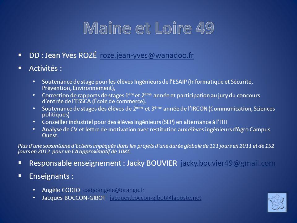 Maine et Loire 49 DD : Jean Yves ROZÉ roze.jean-yves@wanadoo.fr