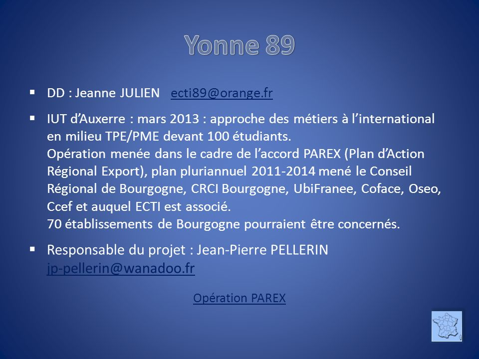 Yonne 89 DD : Jeanne JULIEN ecti89@orange.fr