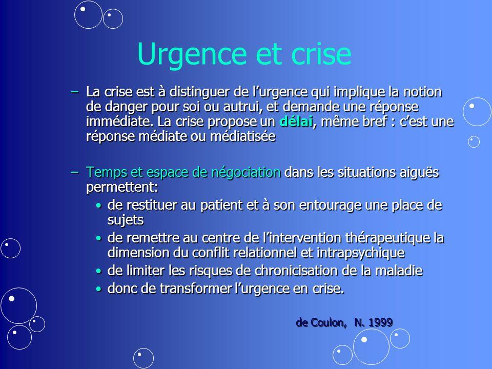 Urgence et crise
