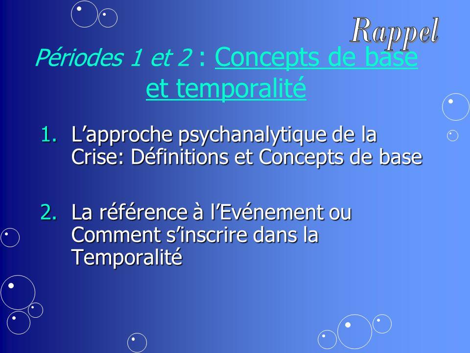 Périodes 1 et 2 : Concepts de base et temporalité
