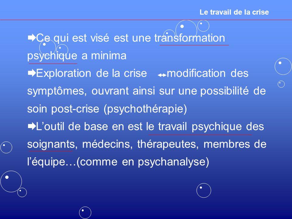 Ce qui est visé est une transformation psychique a minima