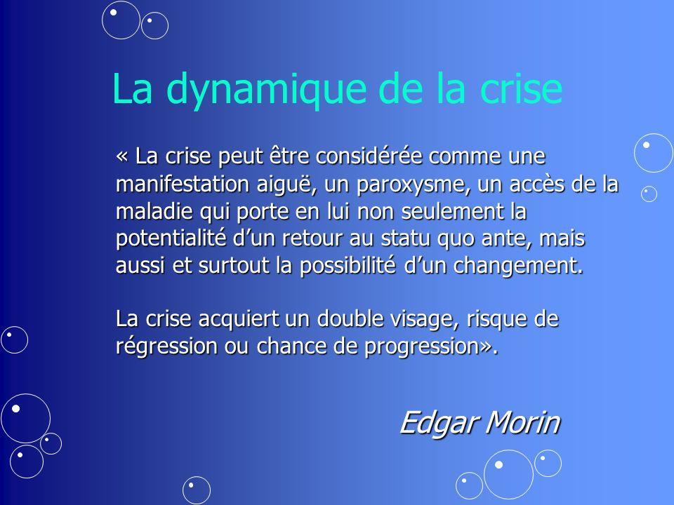 La dynamique de la crise