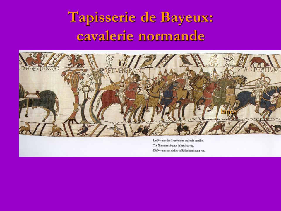 Tapisserie de Bayeux: cavalerie normande