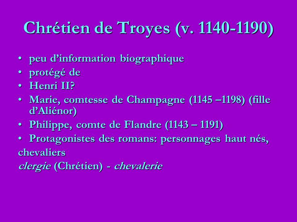 Chrétien de Troyes (v. 1140-1190)