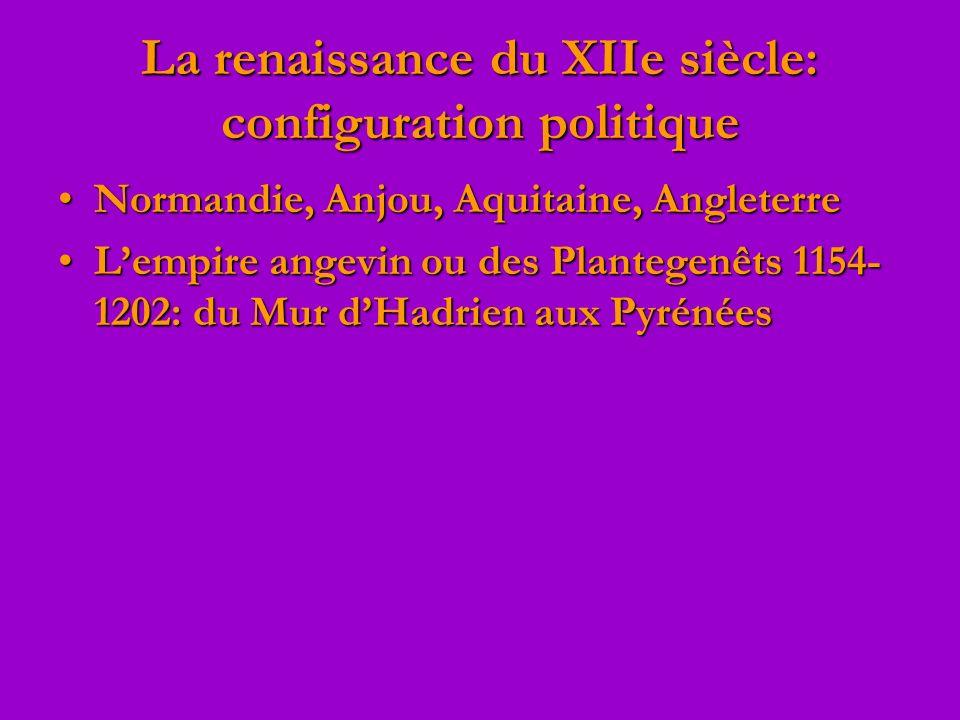 La renaissance du XIIe siècle: configuration politique