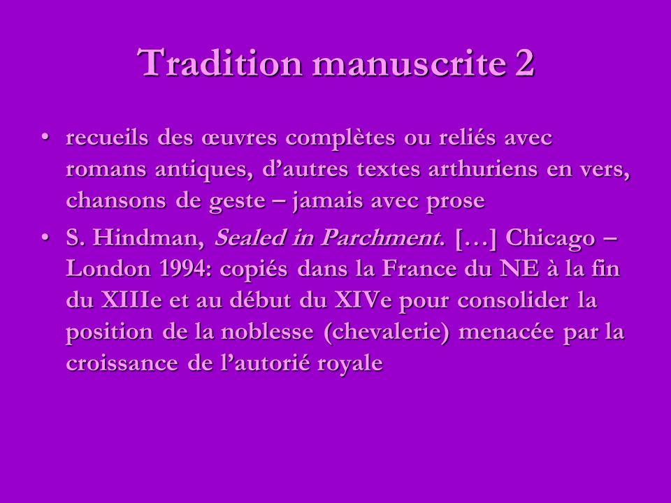 Tradition manuscrite 2