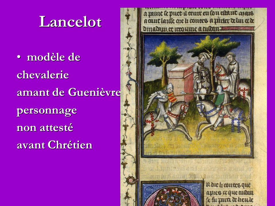 Lancelot modèle de chevalerie amant de Guenièvre personnage