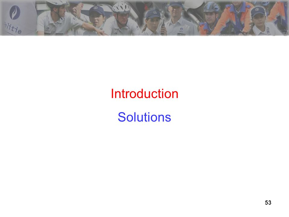 Introduction Solutions 53 53