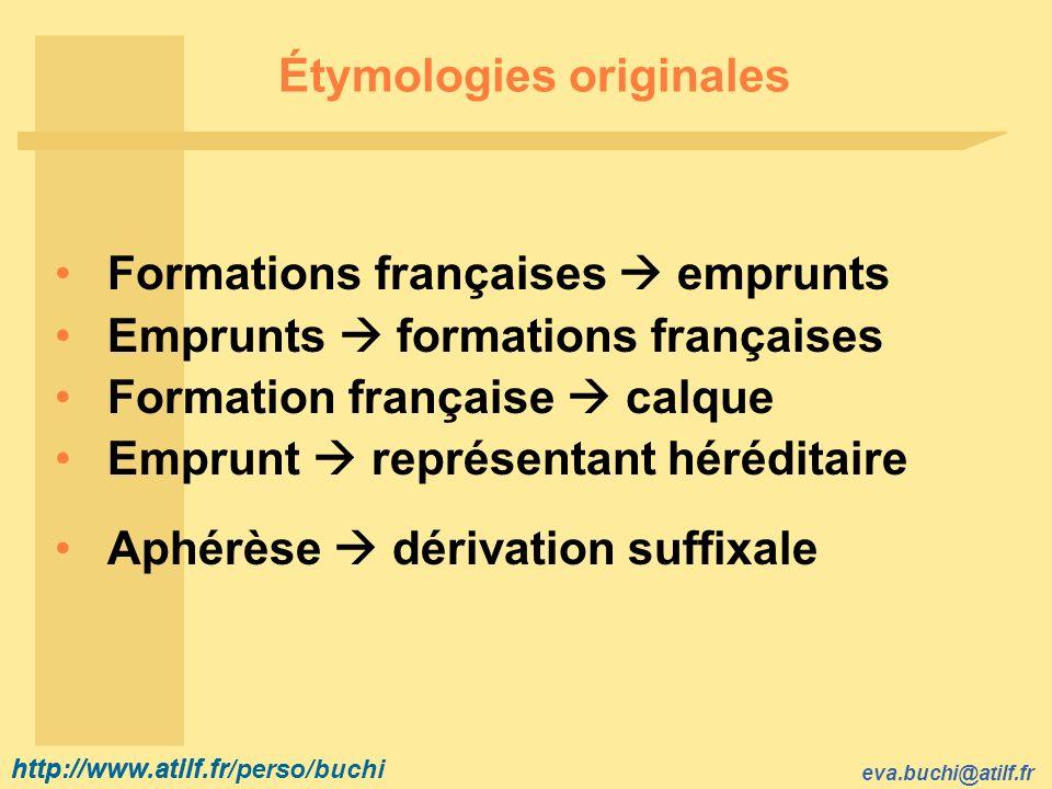 Étymologies originales