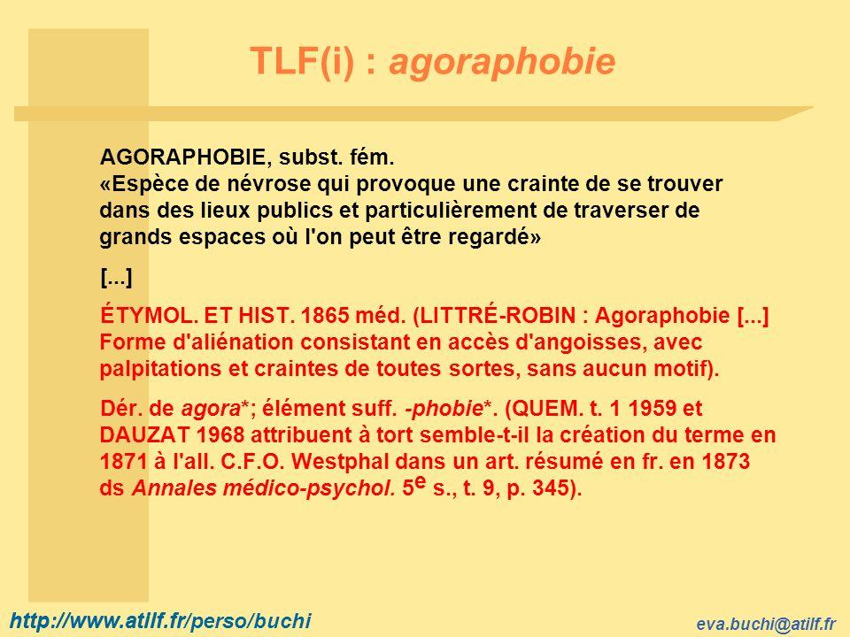 TLF(i) : agoraphobie