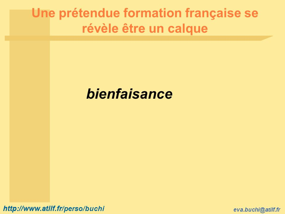 Une prétendue formation française se révèle être un calque