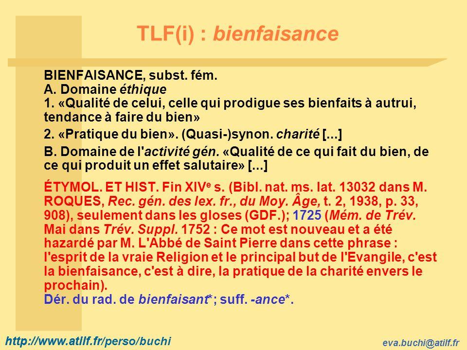 TLF(i) : bienfaisance