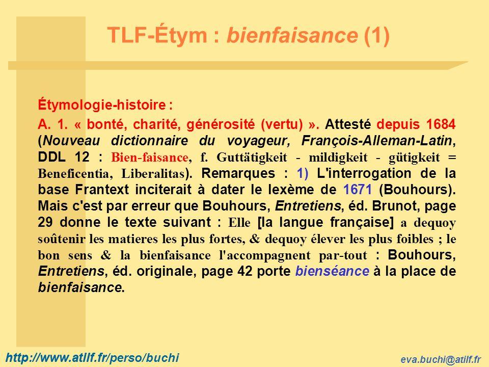 TLF-Étym : bienfaisance (1)