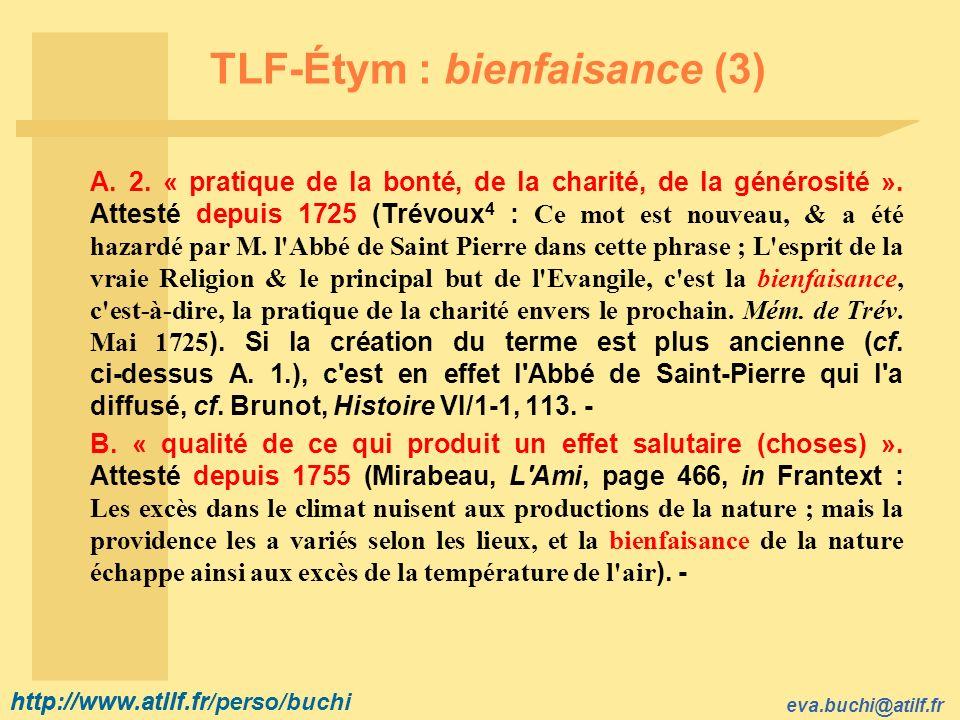 TLF-Étym : bienfaisance (3)