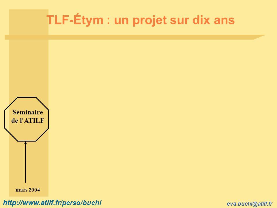 TLF-Étym : un projet sur dix ans