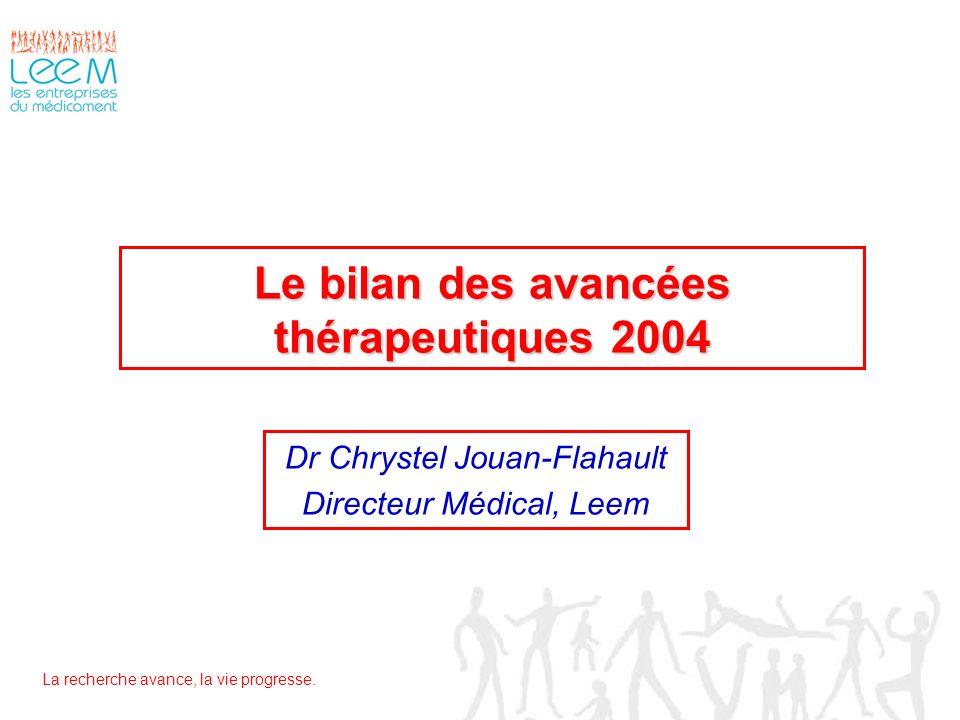 Le bilan des avancées thérapeutiques 2004