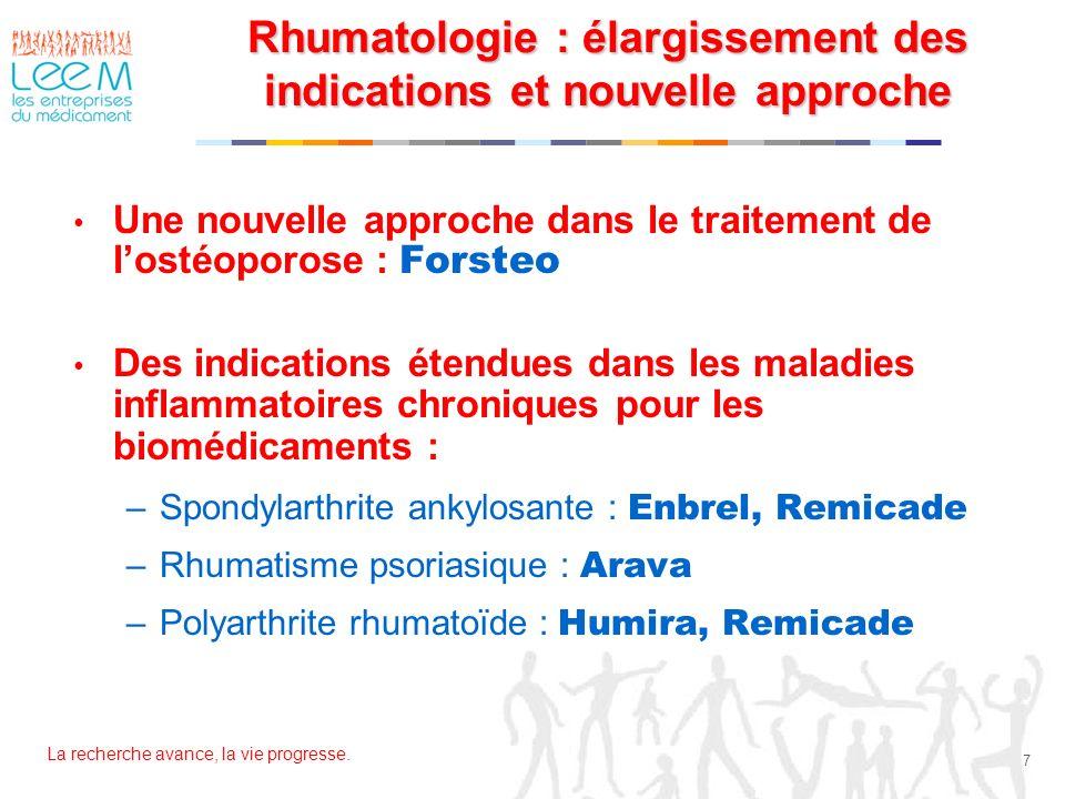 Rhumatologie : élargissement des indications et nouvelle approche