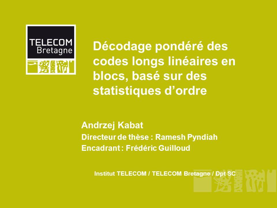 Institut TELECOM / TELECOM Bretagne / Dpt SC