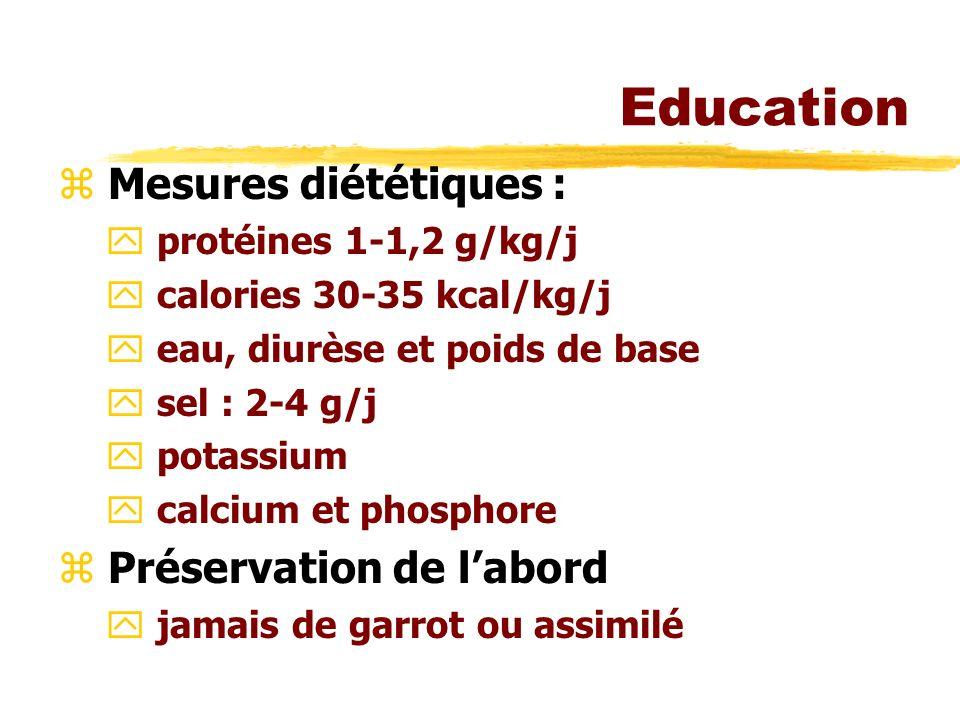 Education Mesures diététiques : Préservation de l'abord