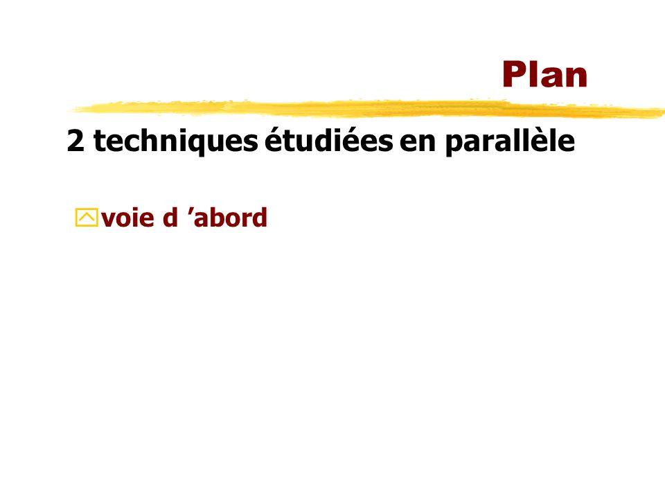 Plan 2 techniques étudiées en parallèle voie d 'abord