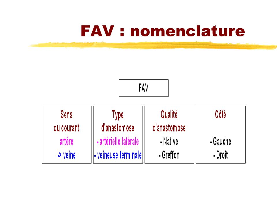 FAV : nomenclature