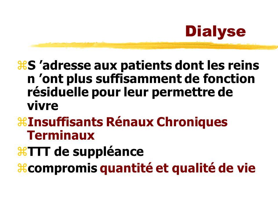 Dialyse S 'adresse aux patients dont les reins n 'ont plus suffisamment de fonction résiduelle pour leur permettre de vivre.