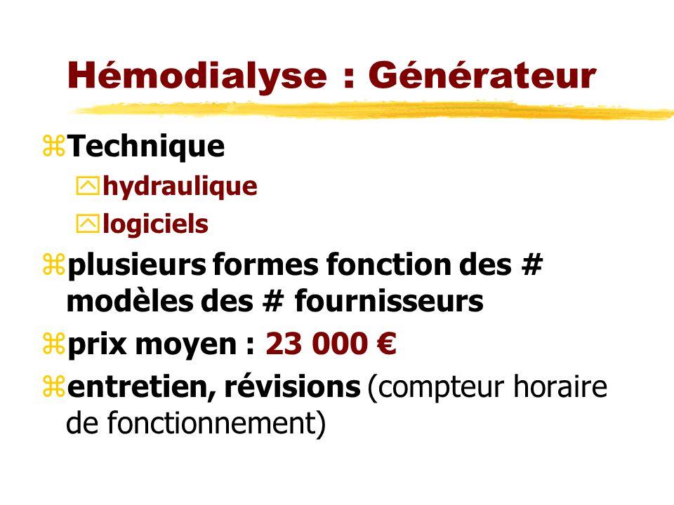 Hémodialyse : Générateur