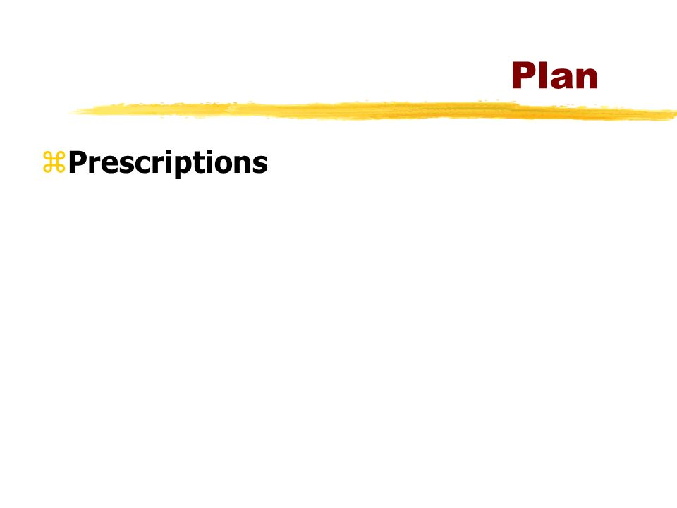 Plan Prescriptions