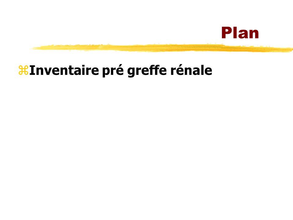 Plan Inventaire pré greffe rénale
