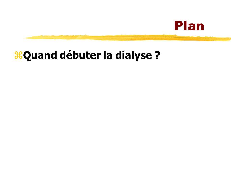Plan Quand débuter la dialyse