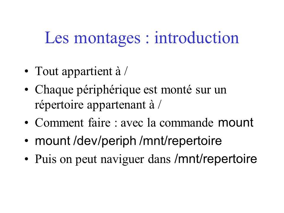 Les montages : introduction