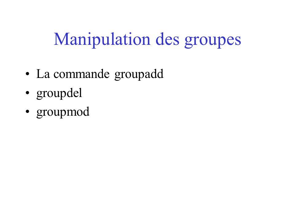 Manipulation des groupes