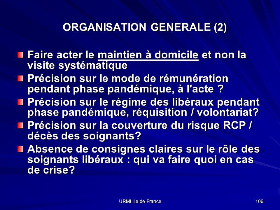 ORGANISATION GENERALE (2)